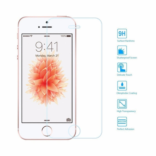Ultra Thin Tempered Glass Film Screen Protector for iPhone SE/5S/5/5C