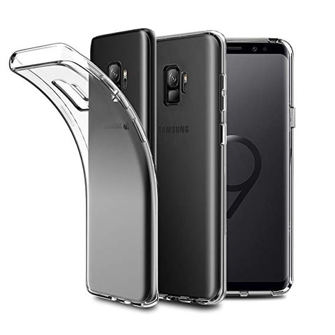 RKSYNC Samsung Galaxy S9+ Case Crystal Clear Soft Transparent TPU Cover