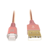 Cables, Adapters - EFM MFi Approved Lightning to USB Cable 1.2M - Rose Gold for Apple