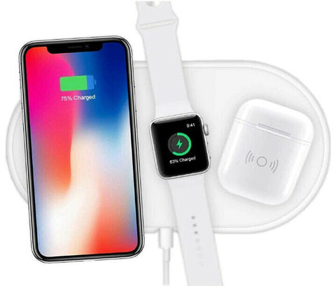 SORSE Triple Qi Wireless FAST Charging Pad Charger For Apple iPhone 11 Pro Max XS XR Watch For AirPods Pro