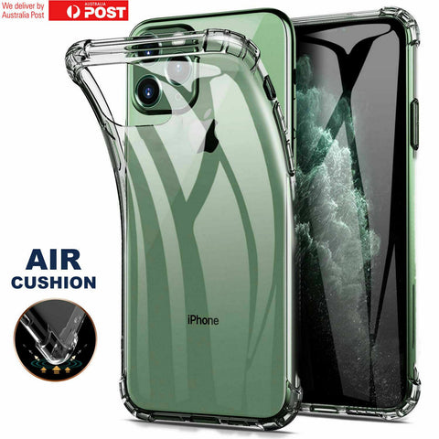 HeavyDuty Shockproof Clear TPU Hybrid Bumper Case Cover for Apple iPhone 11 Pro Max, 11 Pro, 11, 2019 2018