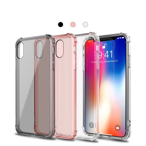Shockproof Thin Soft Gel Clear Case Cover for Apple iPhone XS Max XR X 8 7 Plus 6S 6