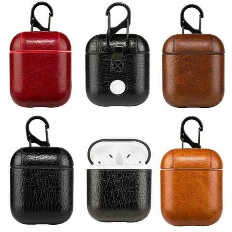 Shockproof Tough Leather Cover For Apple Airpods Pro 3rd Generation 1/2 Earphone Charging Case Clip keychain Supports Wireless Charging