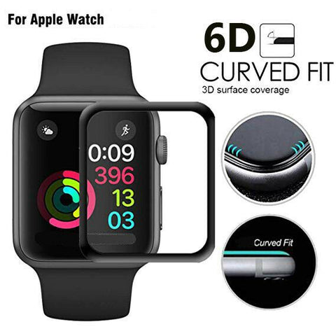 For Apple Watch 6 SE 6D Tempered Glass Full COVER Screen Protector 38/42/40/44mm