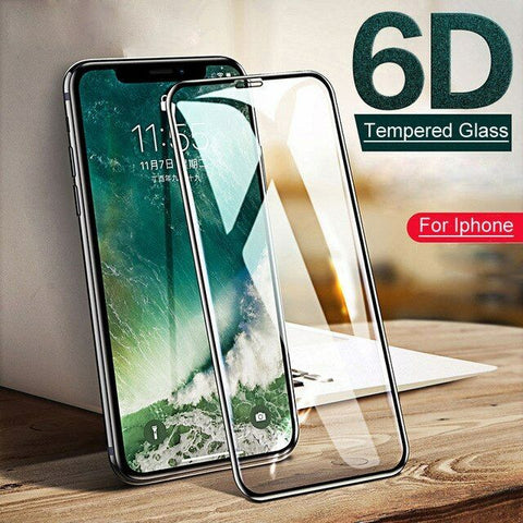 6D iPhone 12 Pro Max 12 mini Tempered Glass Screen Protector Full For Apple