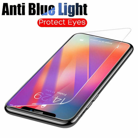 3X Pack For iPhone 12 Pro Max Mini Anti BLUE Light Filter Glass Screen Protector