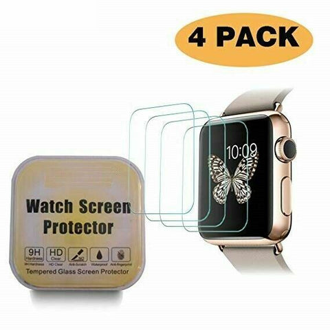 4X Glass Screen Protector for Apple Watch Series 6/5/4/3/2 38/42/40/44mm iWatch