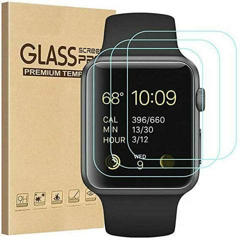 3x GLASS Screen Protector for Apple Watch Series SE 6 5 4 3 38/42/40/44mm iWatch