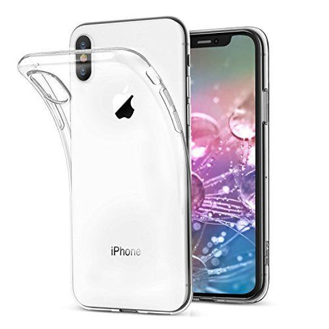 iPhone XS Max XR X Case, Tough Clear Liquid Crystal Slim Soft Cover for Apple
