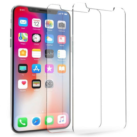 2X iPhone XS XR Max 8 7 Plus 2X Genuine Tempered Glass Screen Protector Apple HD