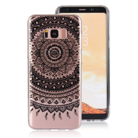 For Samsung Galaxy S9/S7/S8/Plus/Note8 Case Mandala Clear Soft 3D Print COVER