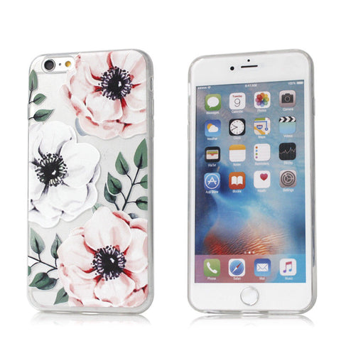 Flower Clear Soft Bumper Print Cover Case For Apple iPhone 8 7 6S Plus X Xs 5S SE