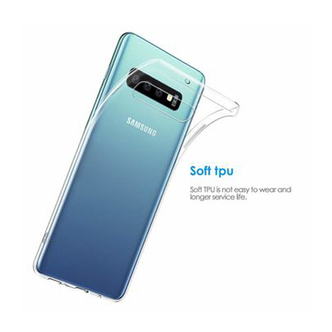RKSYNC Samsung Galaxy S10 Case Crystal Clear Soft Transparent TPU Cover