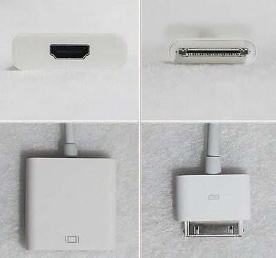A/V Cables & Adapters - 30pin Dock Connector To HDMI Socket Adapter Cable IPhone 4S, IPad 2/3 1080p HDTV 30
