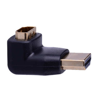 Adapters - Vention HDMI Right Angle Adapter Plug To Socket High Speed 3D 4K