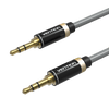 Audio Cables & Adapters - 1m Vention 3.5mm Stereo Plug To Plug Aux Cable Premium Slim Metal Gold Plated Lead