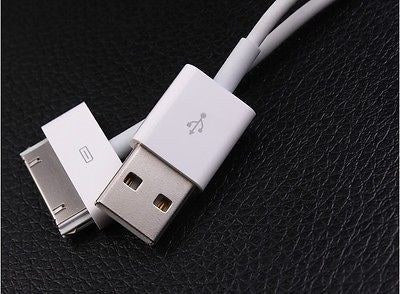 Cables, Adapters - 1m IPhone 4/4S 3G 30pin USB Lead Data Charger Cable IPad 2 3 IPod Classic