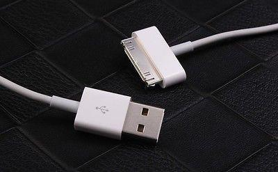 Cables, Adapters - 2m IPhone 4/4S 3G 30pin USB Lead Data Charger Cable IPad 2 3 IPod Classic