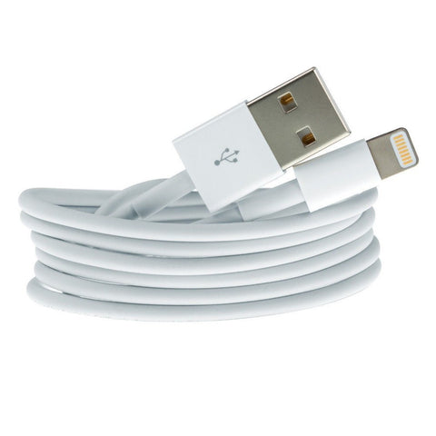 Cables, Adapters - 2m IPhone 5 5S 6 Lightning USB Data Lead Charger Cable IPad Air 2 Mini 3 IPod 7