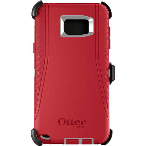 Cases, Covers, Skins - OtterBox Defender Case Cover For Samsung Galaxy Note 5 - Slate Grey/Scarlet Red