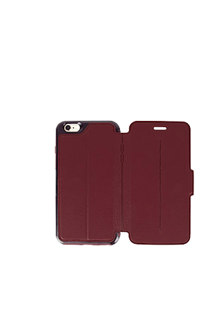 Cases, Covers, Skins - OtterBox Strada Case Cover For IPhone 6 Plus/6S Plus - Warm Black/Maroon