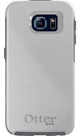 Cases, Covers, Skins - OtterBox Symmetry Case Cover For Samsung Galaxy S6 - White Carbon Fiber
