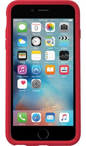 Cases, Covers, Skins - OtterBox Symmetry Clear Case Cover For IPhone 6 Plus/6S Plus - Clear/Scarlet Red