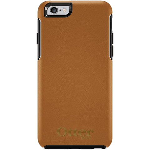 Cases, Covers, Skins - OtterBox Symmetry Leather Case Suits IPhone 6 Plus/6S Plus - Antique Tan W/ Gold Logo