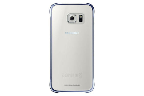 Cases, Covers, Skins - Samsung Clear Back Cover Case For Samsung Galaxy S6 - Blue/Black
