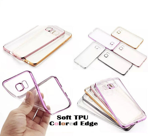 RKSYNC Shockproof Samsung Galaxy Note 5 Clear TPU Soft Case Cover Electroplate Bumper