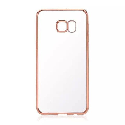 Cases, Covers, Skins - Samsung Galaxy S6 EDGE PLUS Clear TPU Soft Case Cover Electroplate Bumper