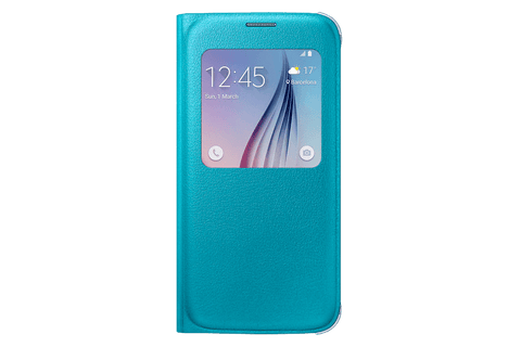 Cases, Covers, Skins - Samsung Original S-View Case Cover For Samsung Galaxy S6 - Blue