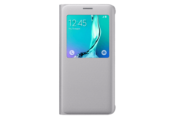 Cases, Covers, Skins - Samsung Original S-View Case Cover For Samsung Galaxy S6 Edge Plus - Silver
