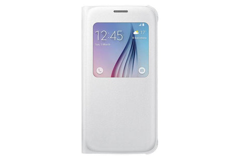 Cases, Covers, Skins - Samsung Original S-View Case Cover For Samsung Galaxy S6 - White