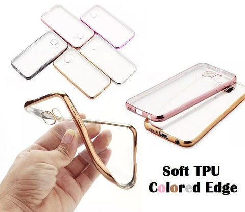 Cases, Covers, Skins - Shockproof Samsung Galaxy S8 Plus Clear TPU Soft Case Cover Electroplate Bumper