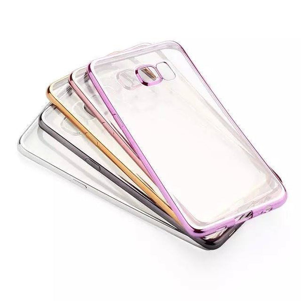 Cases, Covers, Skins - Shockproof Samsung Galaxy S7 EDGE Clear TPU Soft Case Cover Electroplate Bumper