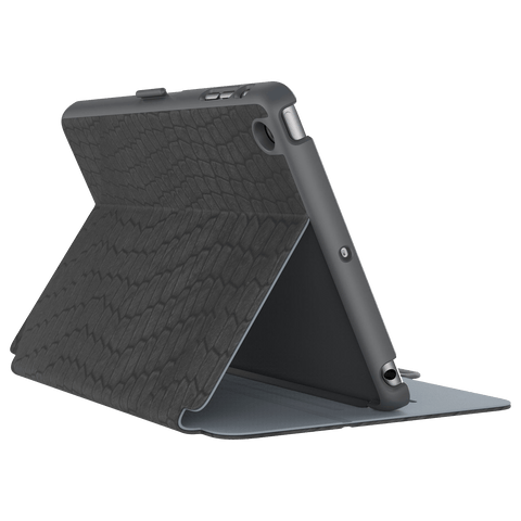 Cases, Covers, Skins - Speck StyleFolio Luxury IPad Mini 4 - Faux Snake Black/Grey