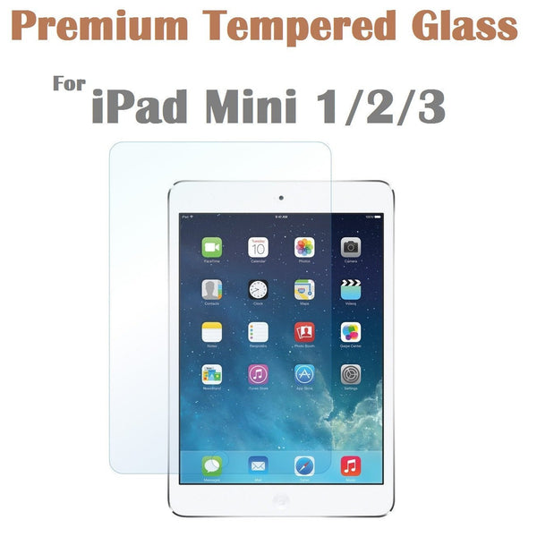 Cases, Covers, Skins - Tempered Glass Film Screen Protector For Apple IPad Mini 1/2/3 Retail Packaging