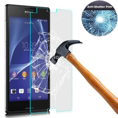 Cases, Covers, Skins - Tempered Glass Film Ultra Thin Screen Protector For Sony Xperia Z3 Compact Retail Packaging