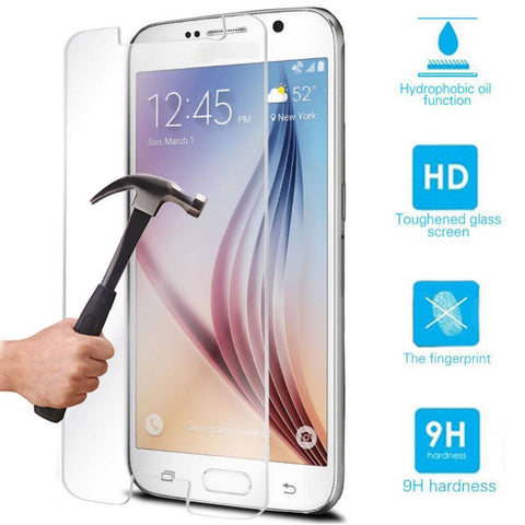 Cases, Covers, Skins - Tempered Glass Ultra Thin Film Screen Protector For Samsung Galaxy S6 Retail Packaging