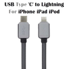 RKSYNC Braided USB 3.1 Type C USB-C to Lightning Data Charger Cable For iPhone 6 iPad