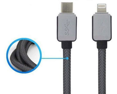 Computer USB Cables - Braided USB 3.1 Type C USB-C To Lightning Data Charger Cable For IPhone 6 IPad