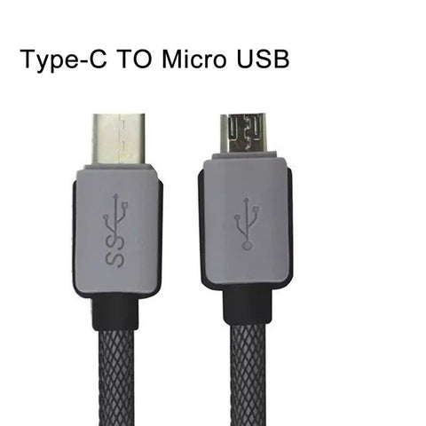 Computer USB Cables - Braided USB 3.1 Type C USB-C To Micro 2.0 Data Charger Cable Samsung S6 Sony HTC