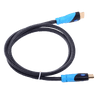 HDMI Cables - Vention 1.5m Braided HDMI Cable Plug To Plug High Speed 3D 4K Premium Quality Lead