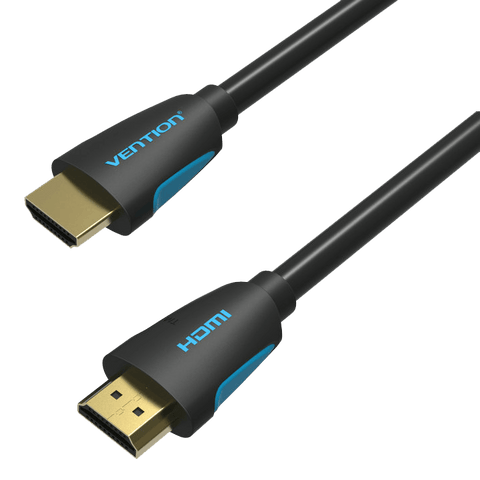 HDMI Cables - Vention 1m HDMI Cable Round Plug To Plug High Speed 3D 4K Designer Series Lead