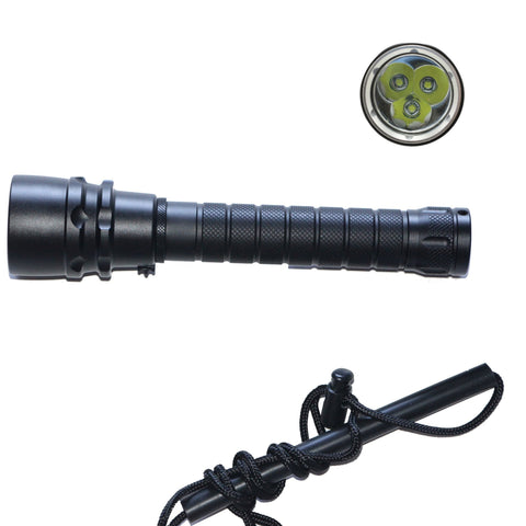 LED Torch - Diving Underwater Flashlight Waterproof LED Torch 3xCREE XML U2 LED 5400 Lumen 100m