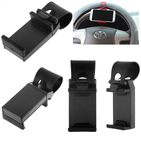 Mounts, Holders - Universal Car Mobile Phone Mount Bracket Steering Wheel Cradle Holder IPhone Samsung LG Sony HTC