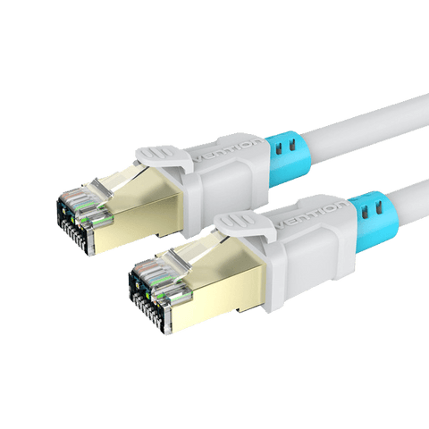 Network Cables - Vention 1m White Cat6 Shielded Patch Lead/Cable With Premium Quality Designer Head
