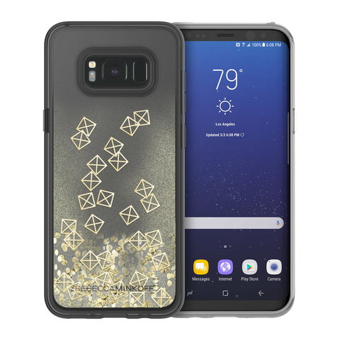 Cases, Covers, Skins - Rebecca Minkoff Glitterfall Case For Samsung Galaxy S8 - Gold Studs