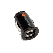 USB Car Charger - Griffin PowerJolt Dual Universal Micro For USB Devices - Black